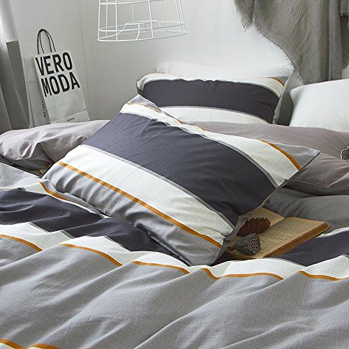 ORoa Cotton Striped Boys Twin Duvet Duvet Cover Sets