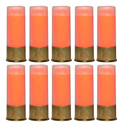 Ultimate Arms Gear Shotgun Safety Trainer Cartridge Dummy Shell Rounds with Brass Case, Orange