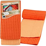 Microfiber Waffle Weave Kitchen Dish Towel,Highly Absorbnet,Set of 2,16 Inch x 24 Inch.Waffle weave microfiber is extremely absorbent making it a great dish drying and kitchen towel.