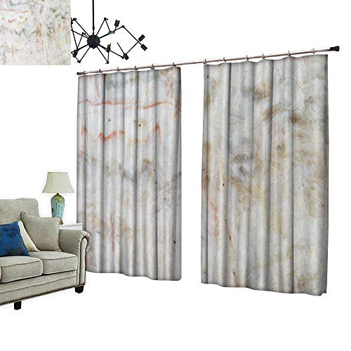PRUNUS Fashion Window Curtain with hookmarble Texture detaile Structure Marble in naturalfor backgroun Design Radiation Protection,W120 xL96.5 from PRUNUS