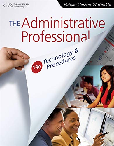 The Administrative Professional: Technology & Procedures (Advanced Office Systems & Procedures) (Most Successful School Systems In The World)