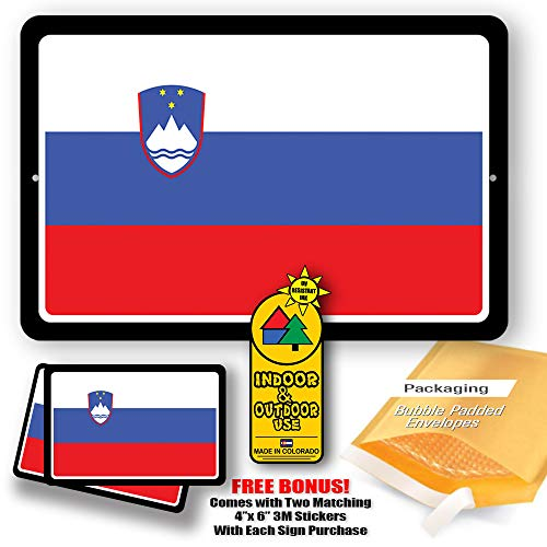 Slovenia Country Flag Man Cave Metal Decor Tin Sign Indoor and Outdoor use 8
