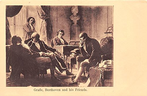 Grafle, Beethoven and his friends Famous People Postcard