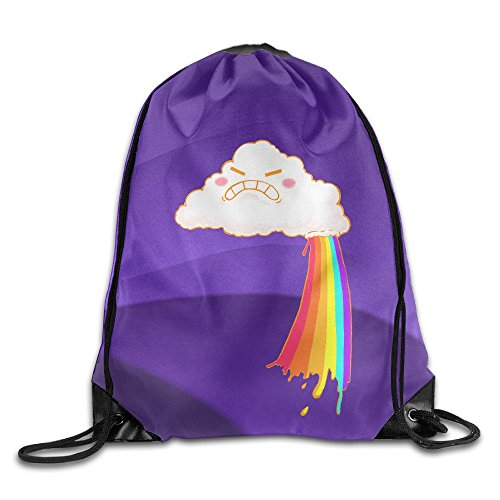 Spoon Costume Make (LINNA Happy Cloud Makes Rainbows Durable Drawstring Backpack Travel Valise)