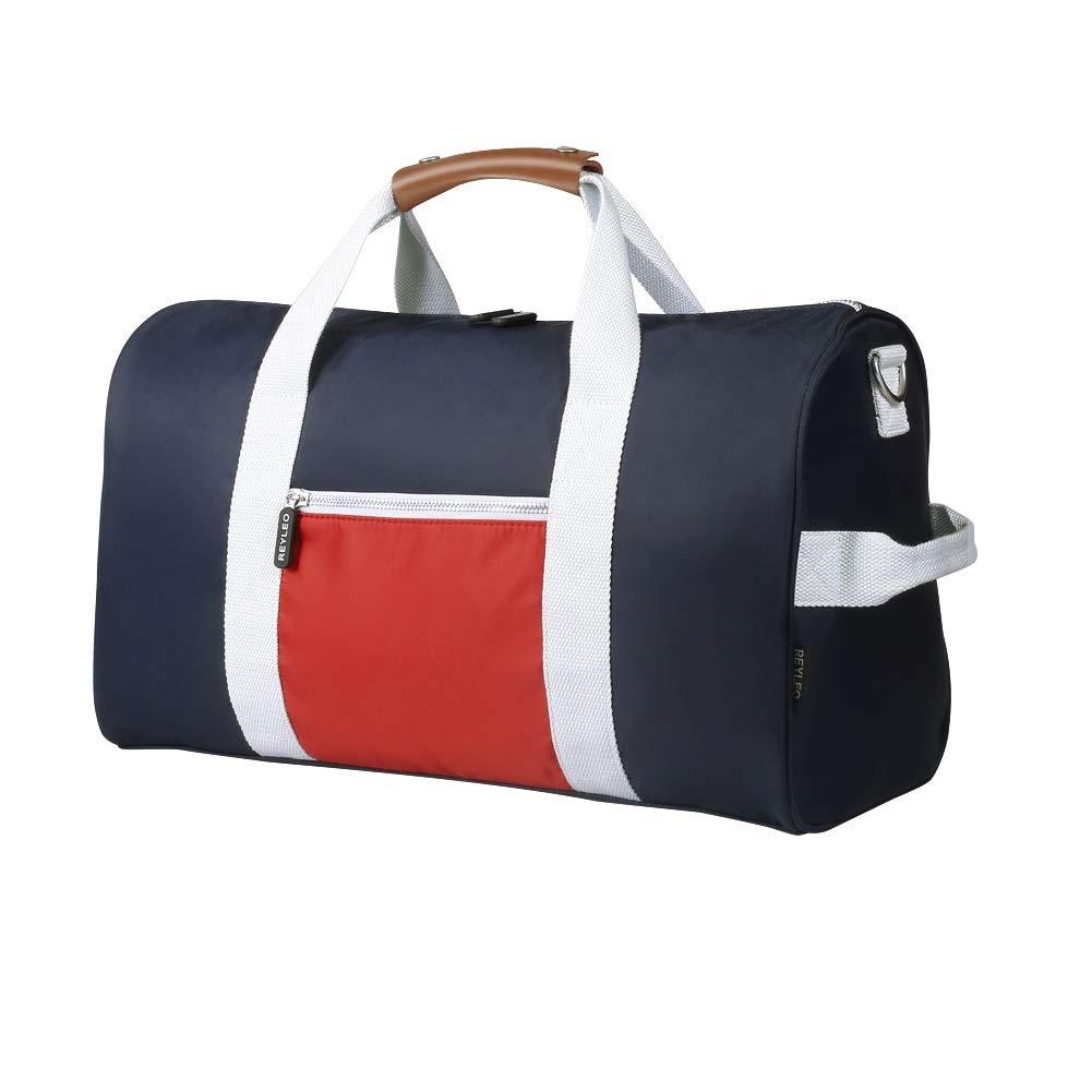 Gym bag,Gym duffle bag, Duffle Bag,Sport bag, REYELO Bag,Carry On for Men Women, Water Resistant, Genuine Leather Handle, Color Blocking Design for gym, sport,travel REYLEO RT02