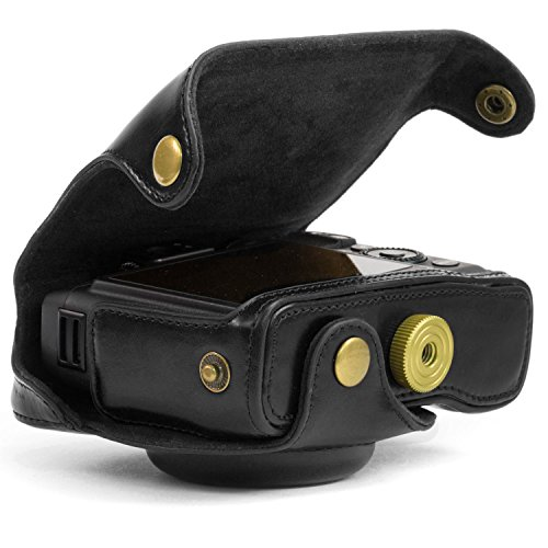 "MegaGear ""Ever Ready"" Protective Black Leather Camera Case, Bag for Canon PowerShot G16"