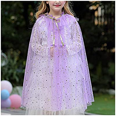 Multifit Princess Capes Colorful Sequins Cloak for Girls-Halloween Birthday Party Costumes Dress up: Clothing
