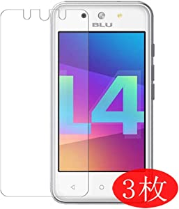 【3 Pack】 Synvy Screen Protector for BLU Dash L4 LTE TPU Flexible HD Film Protective Protectors [Not Tempered Glass]