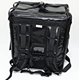 PK-65Abl:10''-12'' Pizza Delivery Backpack Bag, Open from top and Side. Insulated Food take Out Box, Insulated Cabinet for Catering, Restaurant, Delivery Drivers 16'' L x 12'' W x 18'' H (Black)