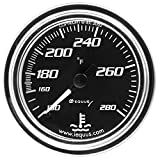 Equus 7242 Water Temperature Gauge - Black