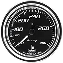 """Equus 7242 2"""" Mechanical Water Temperature Gauge, Chrome with Black Dial"""