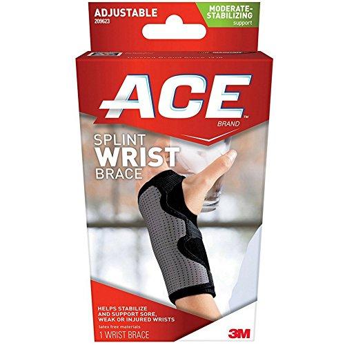 ACE Comfortable Adjustable Neoprene Wrist Support, Mild 1 ea (Pack of 5)