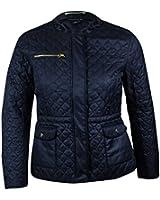 Tommy Hilfiger Women's Collarless Quilted Zip Jacket
