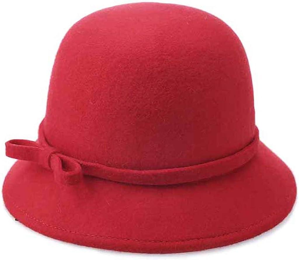 Wool Felt Fedora Hat Retro...