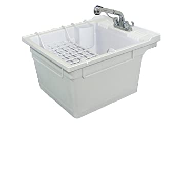 Samson SM-19-WC Wall-Mounted Laundry Tub 22.375-IN W x 26-IN D X 14 ...