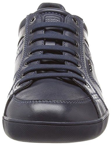 Geox U Kristof A Mens Leather Sneakers / Shoes Blue Bd2td4xc