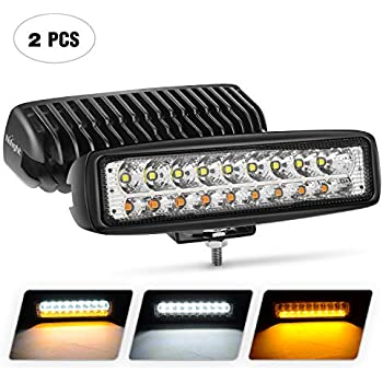 Kashine 72W LED Flood Work Light Bar 243W LED Chips Offroad LED Light Fog Lamp Driving Light for Car Truck Boat Tractor ATV SUV Jeep Pack of 2