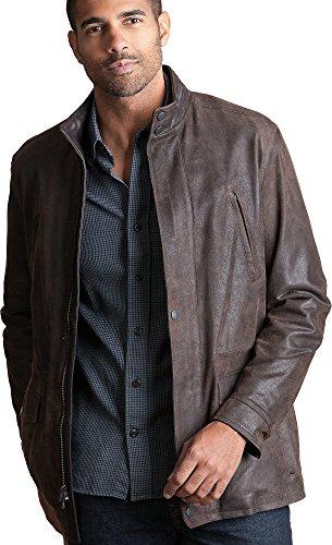 Distressed Italian Leather Jacket - 2