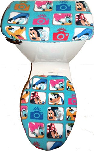 Disney Characters Mickey Mouse Donald Duck Fleece Toilet ...