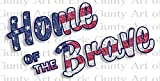 1/2 Sheet - Home of the Brave America 4th of July - Edible Cake/Cupcake Party Topper