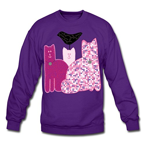 Spreadshirt Miranda Sings Merch Favorite Cats Crewneck Sweatshirt, M, Purple -
