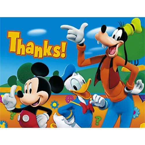 Mickey Mouse Thank You Notes 8ct -