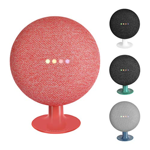 LANMU Stand for Google Home Mini, Mount Holder Compatible with Google Mini Voice Assistant (Red)