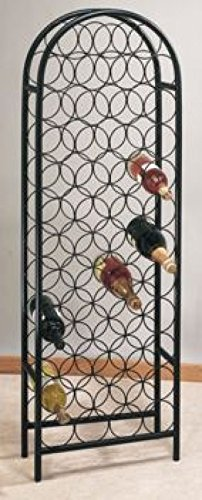 17 x 8 x 53.5 47 Bottle Matte Black Wine Rack