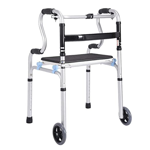 LXDDJZXQ Andador para Ancianos Walker, Ligero, Plegable, Ajustable ...