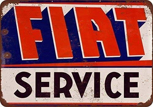 Decorazione Cartello Vintage Ferro Battuto Avvertimento Scudo Acciaio Placca per Bar Cafe Office Pub Soggiorno Fiat Service KODY HYDE Targa in Metallo