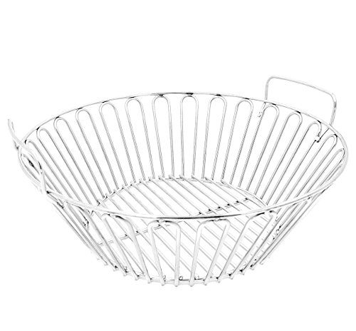 RunTo 13.5 inch Charcoal Ash Basket Fits for Large Big Green Egg Grill, Kamado Joe Classic, Pit Boss, Louisiana Grills,Primo Kamado Grill and Large BGE (Kamado Primo)