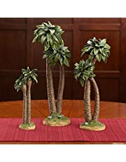 Three Kings Gifts The Original Gifts of Christmas Realistic Palm Tree Resin Stone Table Top Nativity Figurine - 10 inch Scale
