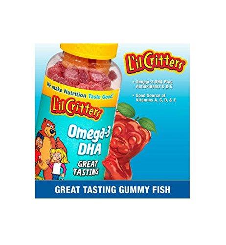 Lil Critters oméga-3 Gummy poisson de DHA-180 poissons