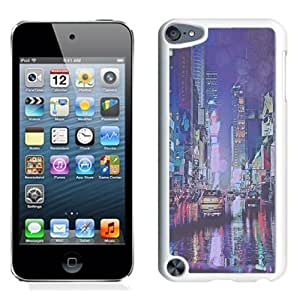 NEW Unique Custom Designed iPod Touch 5 Phone Case With Vintage New York City Rain_White Phone Case