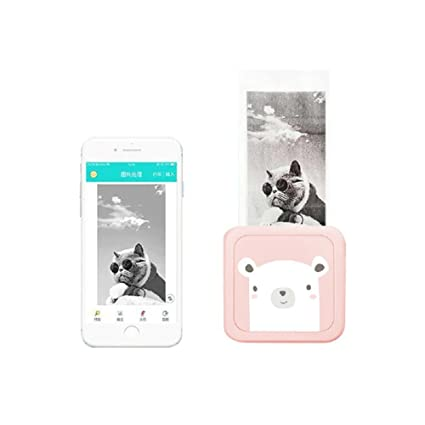 Impresora de fotos inalámbricas Kobwa, moderna, pequeña y portátil, para teléfonos con Bluetooth, térmica