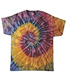 Adult Swirl Tie-Dyed Cotton Tee (Galaxy Spiral) (Small)