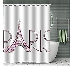 DENGLEI Cortina De Baño Paris Tachun Sub-Spinning Color Sólido ...
