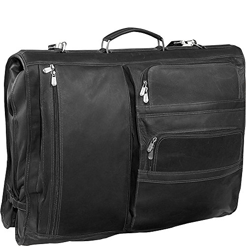 Piel Leather Executive Expandable Garment Bag, Black, One Size by Piel Leather
