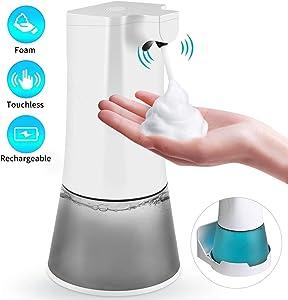 Uarter Automatic Touchless Hand Soap Dispenser Motion Sensor, 11.8oz /350ml Soap Dispenser 2 Adjustable Volume,Liquid Dispenser for Bathroom Kitchen Hotel Restaurant Hospital/School/Office/Airport