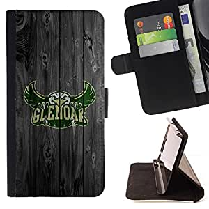DEVIL CASE - FOR Sony Xperia Z1 Compact D5503 - Glen oak Football Eagle - Style PU Leather Case Wallet Flip Stand Flap Closure Cover