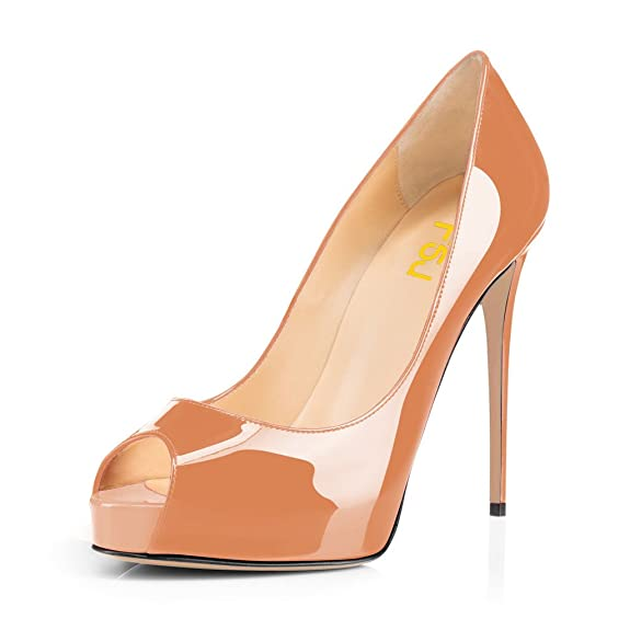 7f0cca622b16 Women Graceful Peep Toe Pumps High Heels with Platform Slip On Party Prom  Shoes Size 4