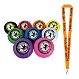 Champion Sports Rhino World Dodgeball Set Assorted (Set of 9) Bundle with 1 Performall Lanyard DB85SET-1P