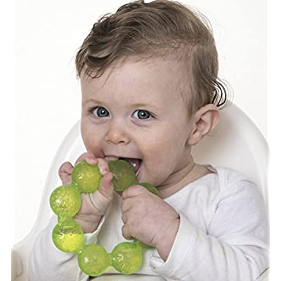 Nuby IcyBite Soothing Ring Teether 2pk - Colors May Vary : Baby