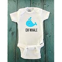 Oh Whale ONESIE ® brand Gerber Onesie Bodysuit - Funny Onesie - Shower gift - baby clothes - newborn onesie