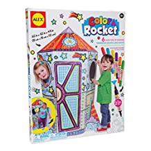 ALEX Toys - Color a Rocket Children's Kit with (6) Washable Markers and Cardboard Rocket, 198R