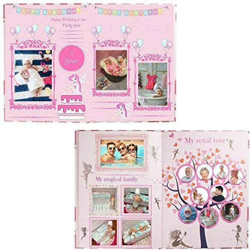 First Year Baby Girl Memory Book For Memories & Milestones Adorable Pink Keepsake Journal With 100 Sticker Dots, 12 3D Butterfly Stickers & 15 Monthly Milestone Stickers Perfect Baby Shower Gift