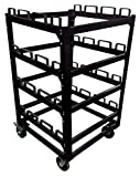 12 Post Stanchion Cart | Portable Moving or Storage Stanchion Cart