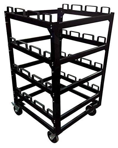 12 Post Stanchion Cart | Portable Moving or Storage Stanchion Cart by Epic