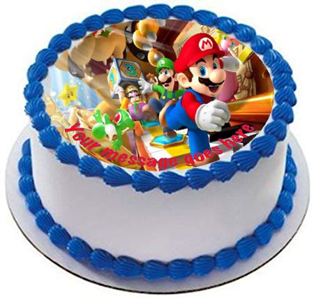 Super Mario - Decoración comestible para tarta (19 cm ...