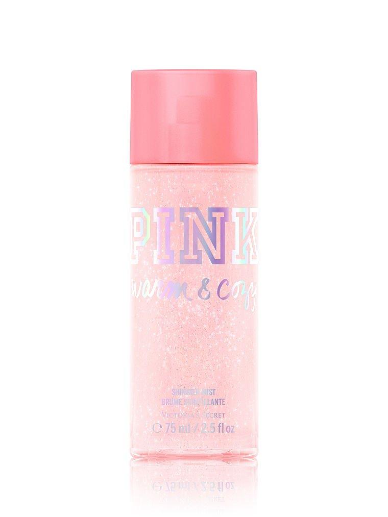 b75e1fff63 Amazon.com   Victoria s Secret PINK Warm   Cozy Shimmer Body Mist   Beauty
